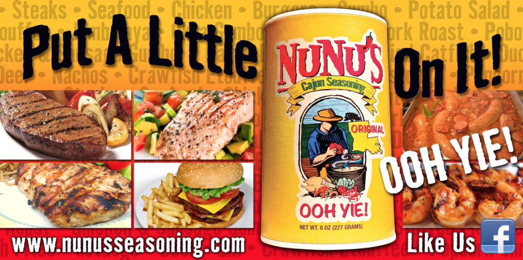 NUNU'S CAJUN SEASONING BILLBOARD DESIGN