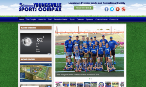 Youngsville Sports Complex Website Design