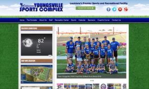 Youngsville Sports Complex Website Design