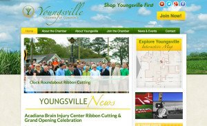 Youngsville Chamber of Commerce Web Design
